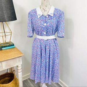 Vintage Cottagecore Dress Ditzy Floral Size 18